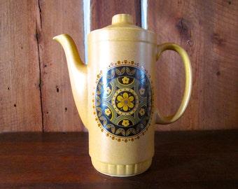 Coffee Pot / 1940's / SANTA FE English Ironstone,Tableware Ltd Stoke On Trent, England