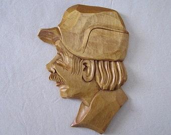 Vintage Man handmade sculpture woodcraft