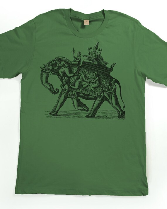 Elephant shirt men 39 s mystic elephant tshirt by slothwingtees for Elephant t shirt women s