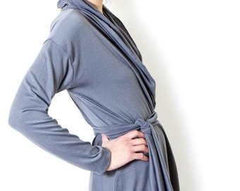 Wrap Top Long Grey Cardigan Long Sleeve Knit Cardigan For Women Oversized Sweater