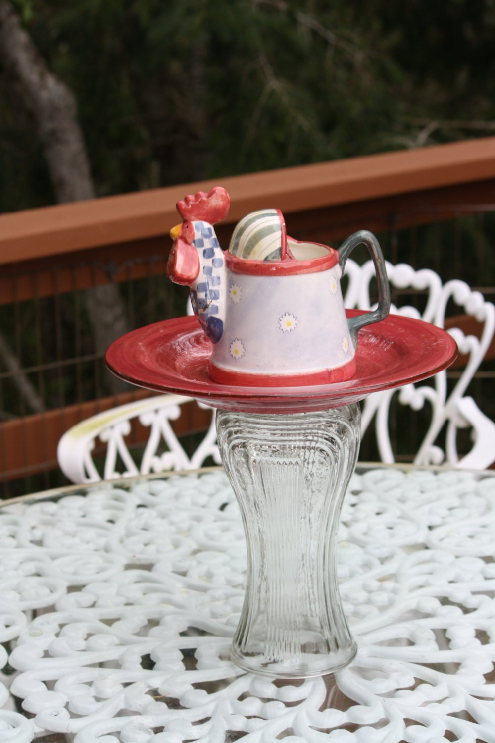 Centerpiece art candy dish jewelry holder by