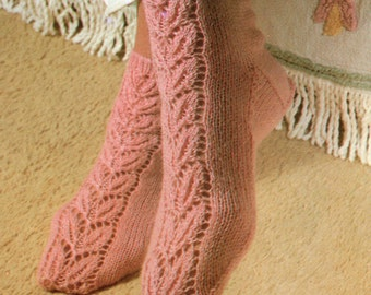 Bed Socks Knitting Pattern PDF