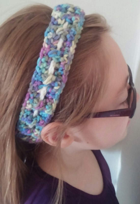 Free Adjustable Crochet Headband Pattern : Crocheted Adjustable Headband by SamsHairShop on Etsy