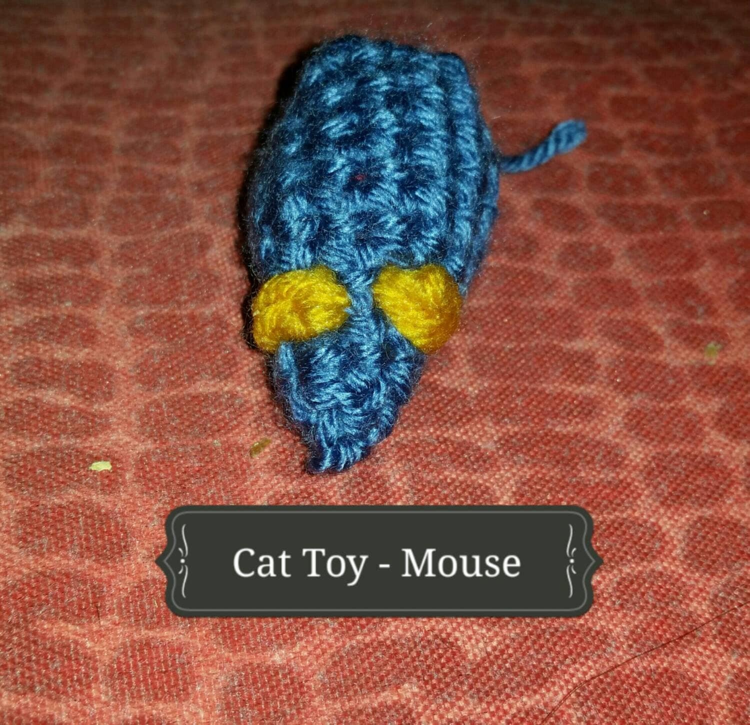 Crochet cat toy mouse by purpleduckiedesigns on etsy for How to crochet cat toys