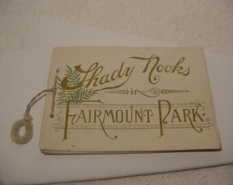 Vintage Fairmount Park Philadelphia Souvenir Picture Booklet Shady Nooks in Fairmount Park