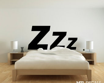 Attractive Zzz Bedroom Wall Decal (61 Photo