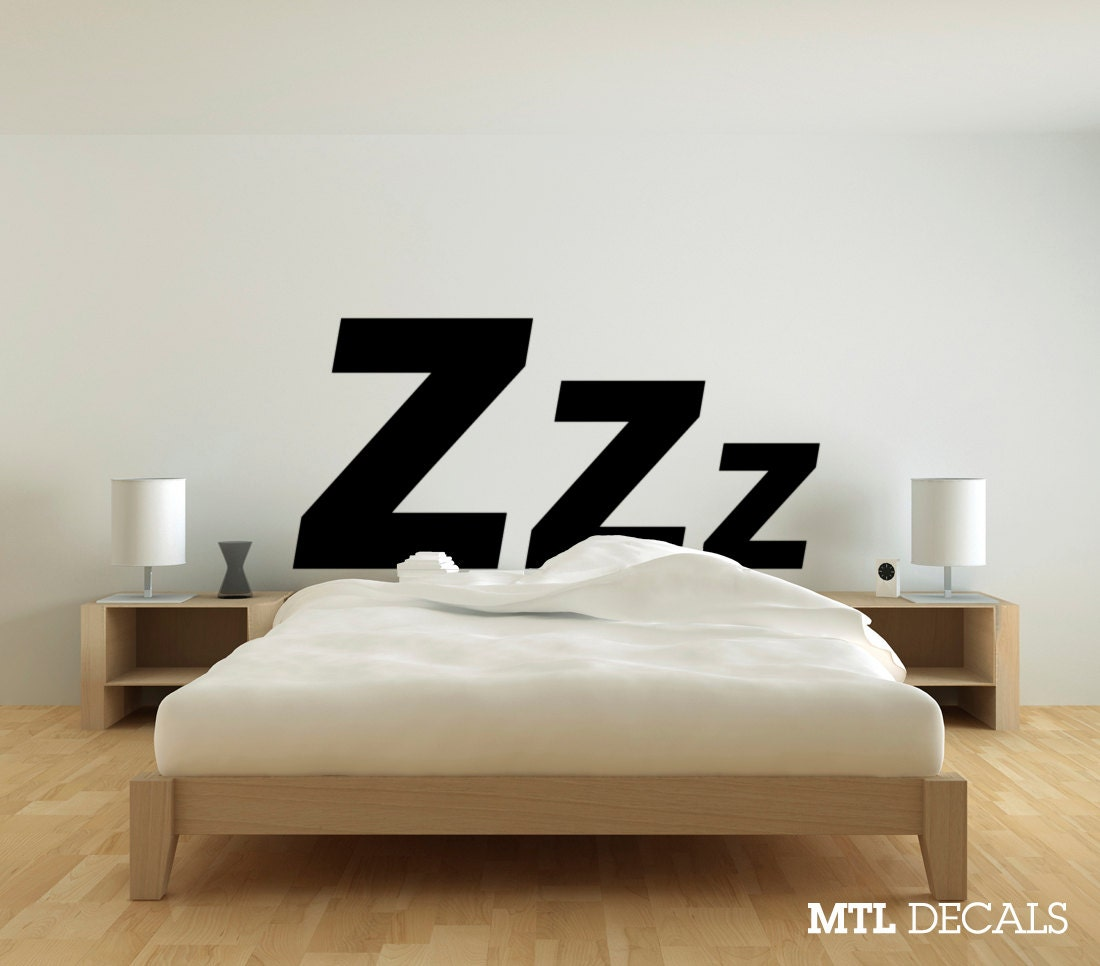 wall decals bedroom zzz bedroom wall decal 61 x 29 wall sticker wall 13759