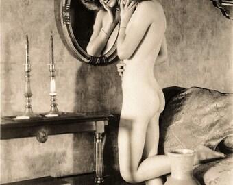 Albert Arthur Allen Photo, Female Figure In Mirror