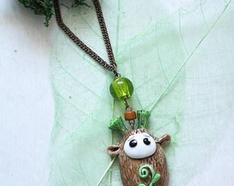 Moss Seed Cute Necklace