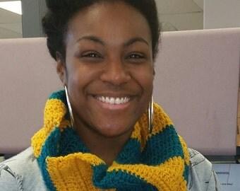Stripe Crochet Scarf