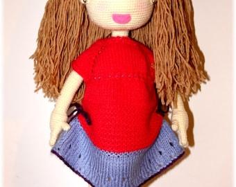 Crochet doll, amigrumi technique