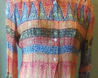 Franck Olivier Paris semi sheer crinkle blouse
