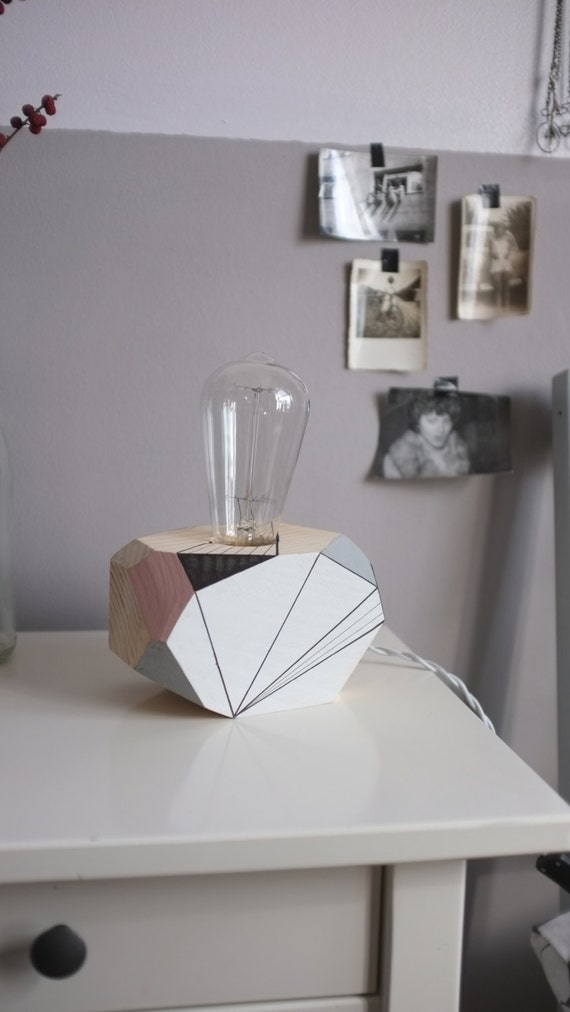 geometric lighting wooden table lamp auriga by by polymorphics. Black Bedroom Furniture Sets. Home Design Ideas