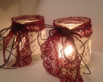 Hand Drawn Personalised Tealight Holders