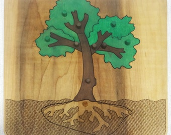 Montessori Botany Puzzle, Parts of a Tree, Montessori Primary Materials, Montessori Homeschooling, Educational Puzzle, Montessori Puzzle