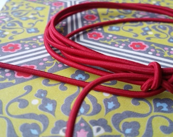 Elastic Cord in Cranberry (2mm)