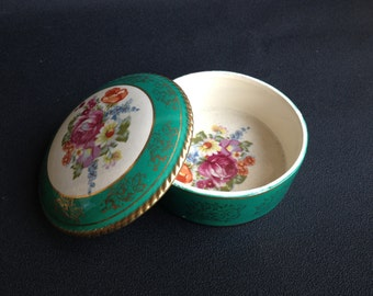 Vintage Trinket Box Porcelain