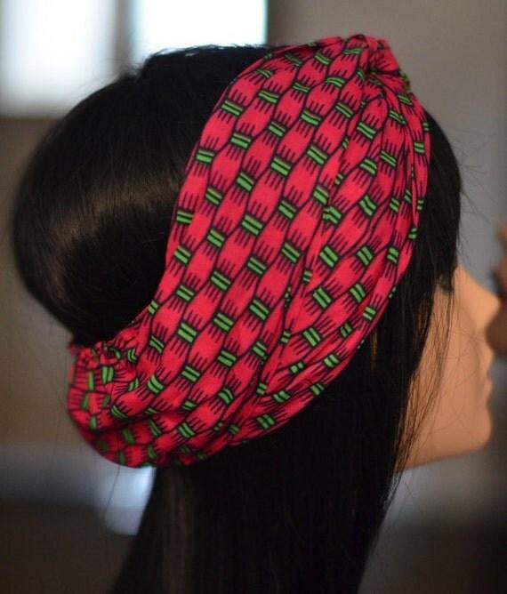 African Bands: Ankara African Print Turban Hair Band Headband By