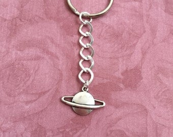 Saturn Keyring, Saturn Keychain, Planet, Outer Space