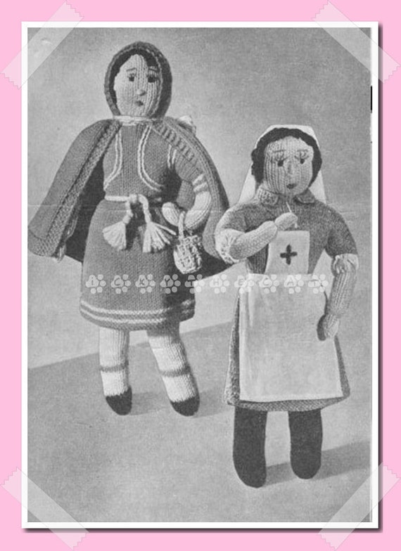 Wartime Knitting Patterns : Wartime Vintage 1940s Knitting Pattern Little Red by ickythecat