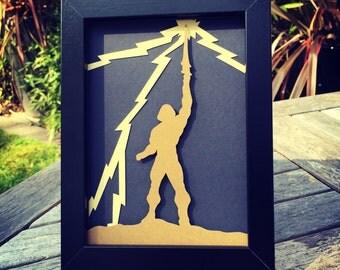 He-man - Framed 3D Cutout
