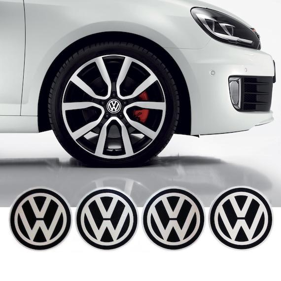 vw volkswagen wheel center caps sticker emblem logo 4 x 55mm. Black Bedroom Furniture Sets. Home Design Ideas