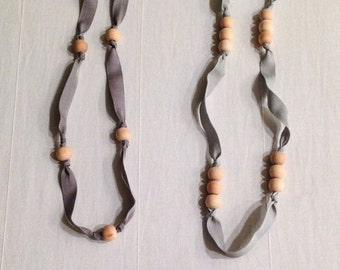 grosgrain ribbon necklace