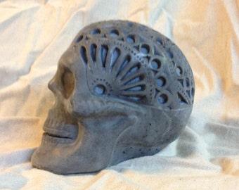 Concrete Mexican Day of the Dead  Sugar Skull, Dia De Los Muertos