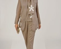 Linen Blouse - Sizes 28,30,32 - Linen, Cotton, Silk. PDF pattern. Women's SEWING PATTERN.