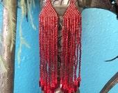 Wildfire - Ombre Fringe Earrings
