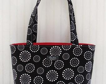 Spiral Dot Boxy Tote Bag
