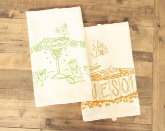 Margarita and Queso Tea Towel set