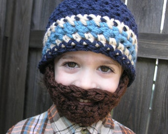 Instant Download- Pattern for Crochet Bearded Beanie size 12mo-2T