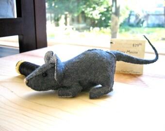 Grey Wool Felt Mouse