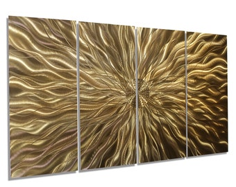 Copper Metal Wall Art - Contemporary Painted Wall Sculpture,  Handmade Metallic Home Decor - Static Copper by Jon Allen