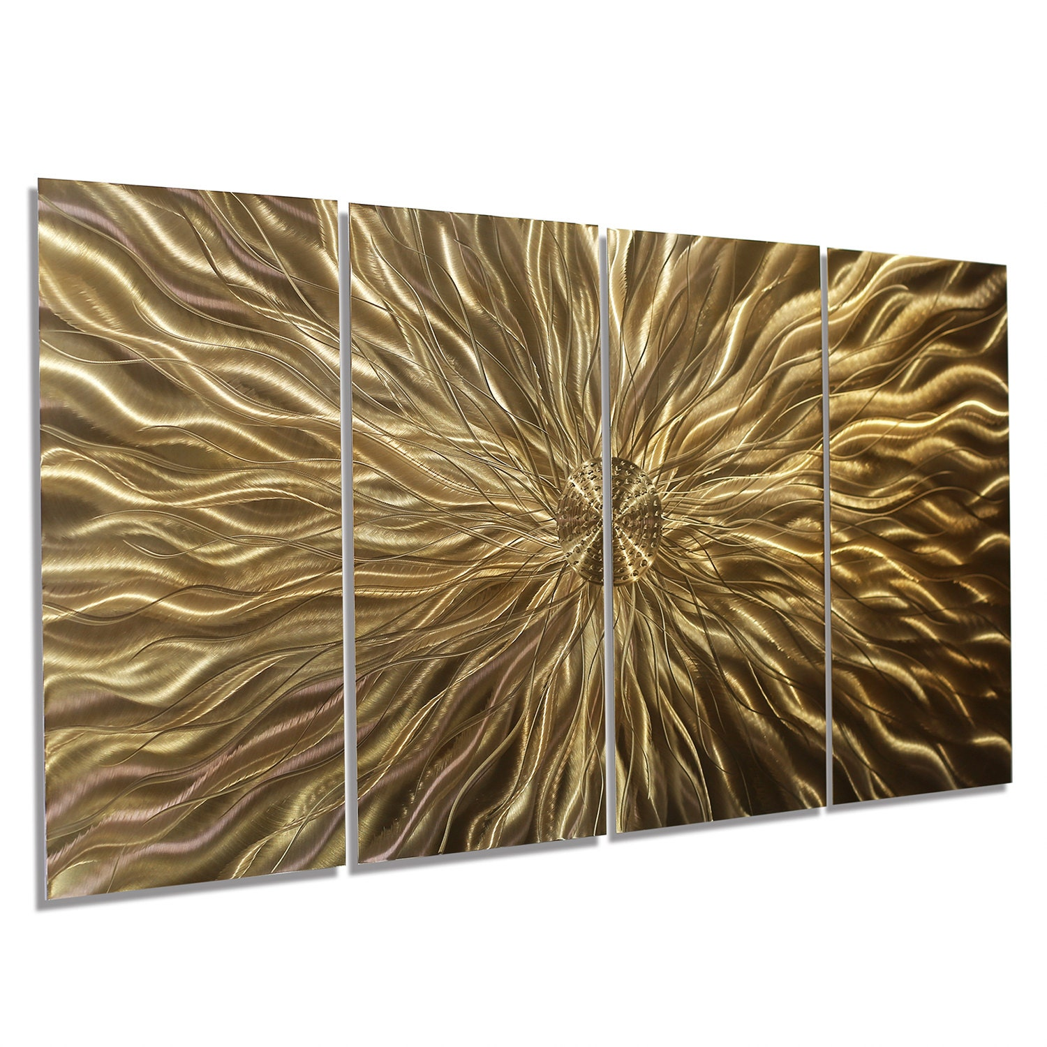 Copper metal wall art contemporary painted wall sculpture for Copper wall art
