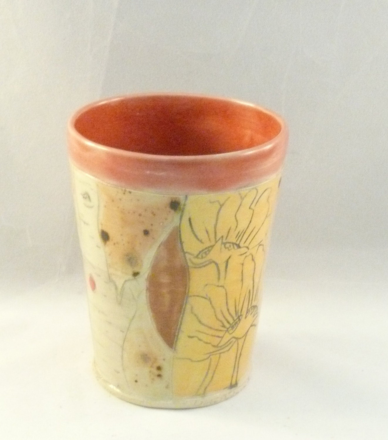 Unique Coffee Cup Without Handle Pottery Mug By