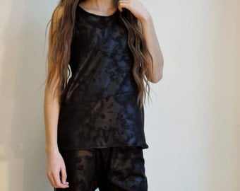 Faux leather tunic