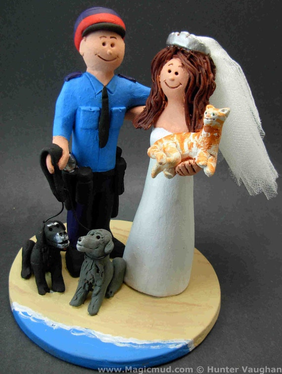 TacticalBlue - Police Officer\'s Wedding Cake Topper, Policeman ...