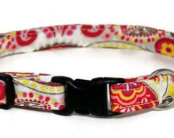 Fancy Cat Collar - Paisley Treasure - Breakaway Safety Cute Fancy Cat Kitten Collar