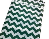 Dark Green chevron 13x20 kitchen wetbag