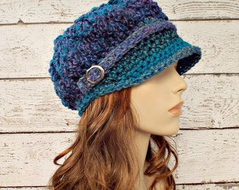 Blue Newsboy Hat Blue Womens Hat - Spring Monarch Ribbed Crochet Newsboy Hat Caribbean Blue Crochet Hat Womens Accessories Fall Fashion