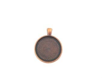 25mm copper bezel pendant settings, pick your amount, B53