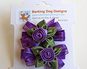 Purple Hair Bow. Purple Hair Clips With Non-Slip Grips. Girls Hair Clips Set of 2. Toddlers Hairclips. Hair Clippies