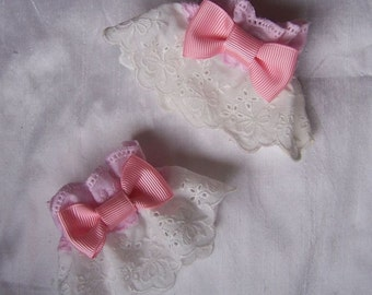 RIBBON BOW Wrist Cuffs- Pastel Colours