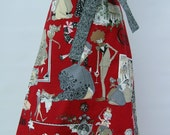 Christmas Half Apron from Alexander Henry Ghastlie Christmas Fabric