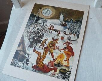 Feast of Fools - A4 print on cream card
