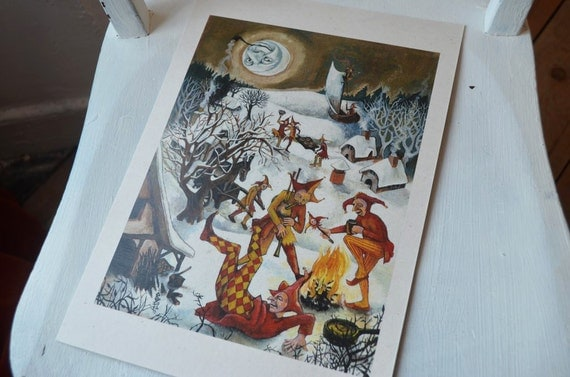 Feast of Fools - A4 print on cream card