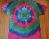 Tie Dye T Shirt - V Neck - Adult Size L