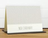 Personalized Stationery Set / Personalized Stationary Set - ZIG Custom Personalized Notecard Set - Masculine Simple Modern